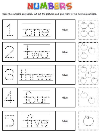 Ecriture Des Nombres Numbers En Anglais Anglais Pour Les Tout Petits Exercices A Imprimer